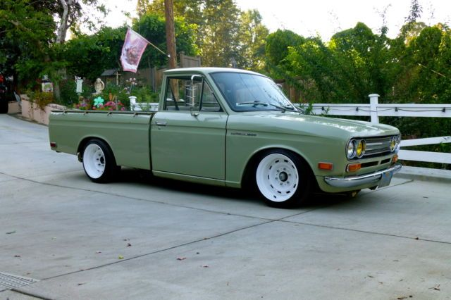 1972 DATSUN 521 PICKUP TRUCK ALL ORIGINAL PATINA RESTRO MOD SLAMMED