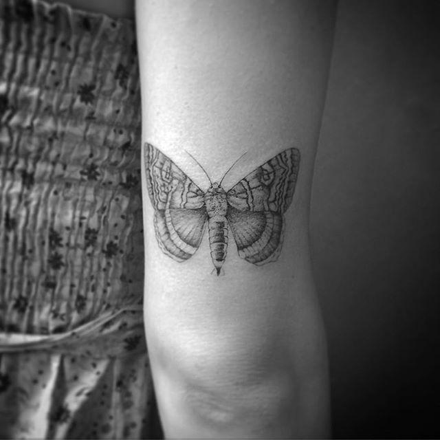 A mariposa pra Carlitcha, que vai casar daqui uns dias e vai arrasar cá Tattoo nova!  foi um prazer Carla! Espero que tenha gostado!✨✨ #Tattoo #astattooistas #mariposa #moth #mothtattoo #tattrx #tattoo2me #tonoinsptattoos #inspirationtatto #blackworkerssubmission #onlyblacktattoos #blackwork #blackandgraytattoo #dotwork #crizsuconic #corujarecordstattoo