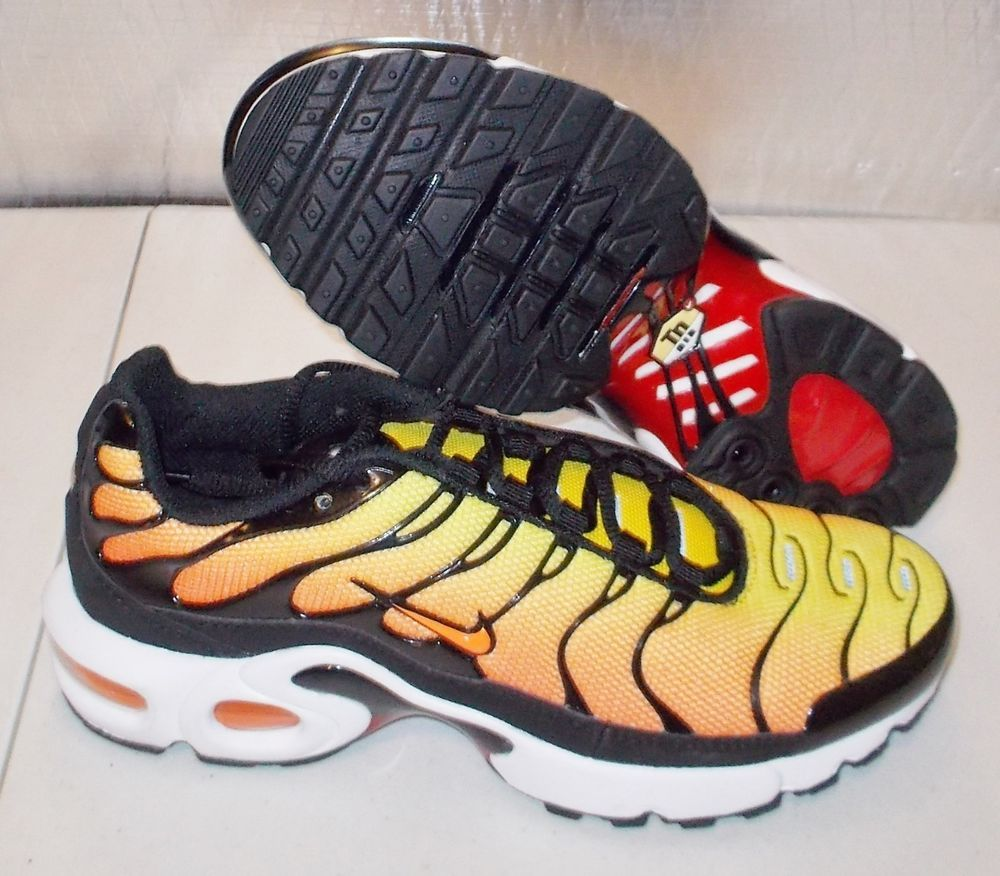 NEW NIKE AIR MAX PLUS TN + Womens 6.5 (5Y) retro SUNSET