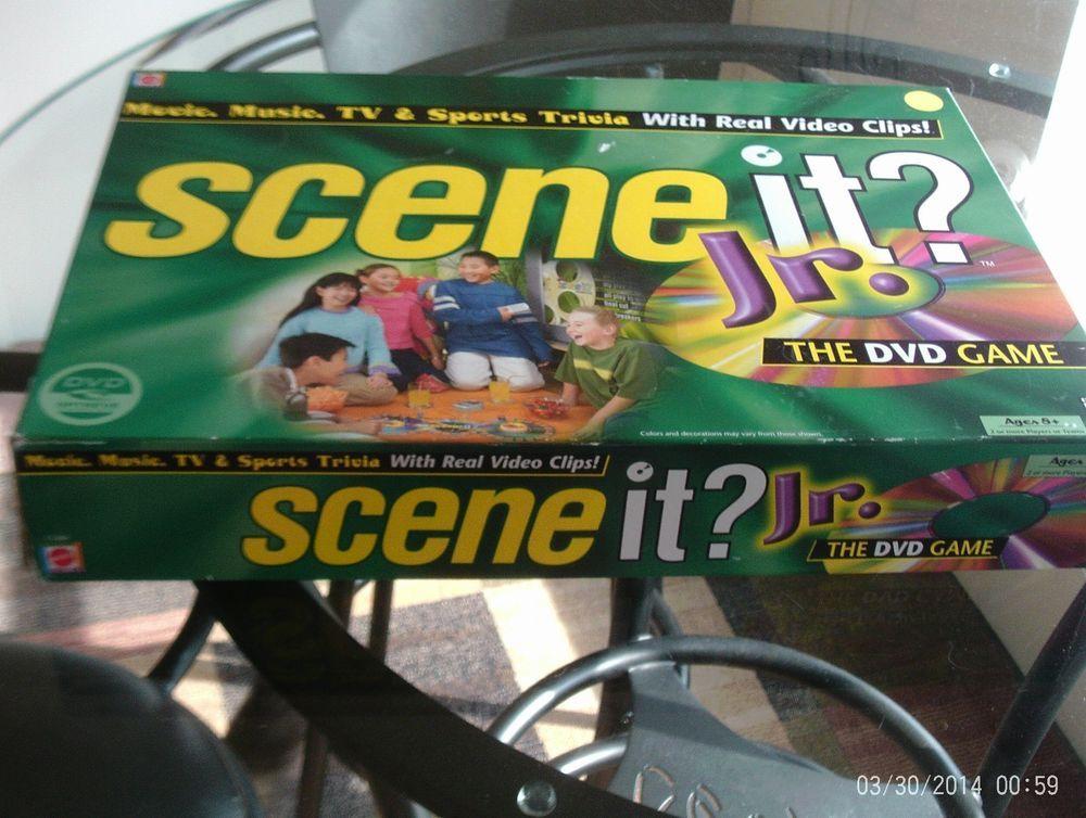 Scene It Jr Dvd Game Movie Complete Music Tv Sports Trivia Mattel Family Game Mattel Family Games Music Tv Movie Game