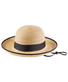 9a07d03bb4c6e Tilley Hat - R2 Womens Medium Brim Raffia Hat - Travel Hats for Men and  Women