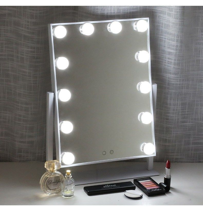 Miroir Maquillage Pro Youtubeuse Ampoules Eclairage Lumiere