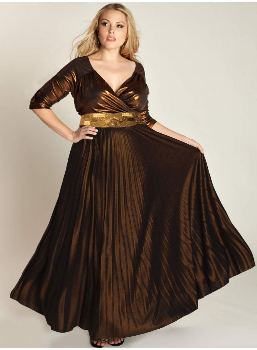 Antoinette plus size gown in copper gowns skinny and prom