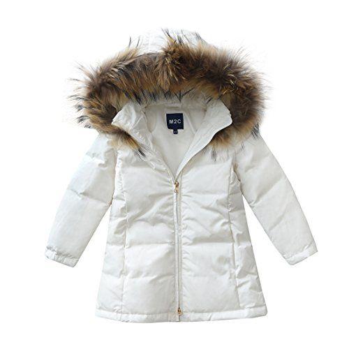 9cf0248f7 M2C Girls Fur Hooded Long Puffer Duck Down Jacket Parka   Teen Girls ...