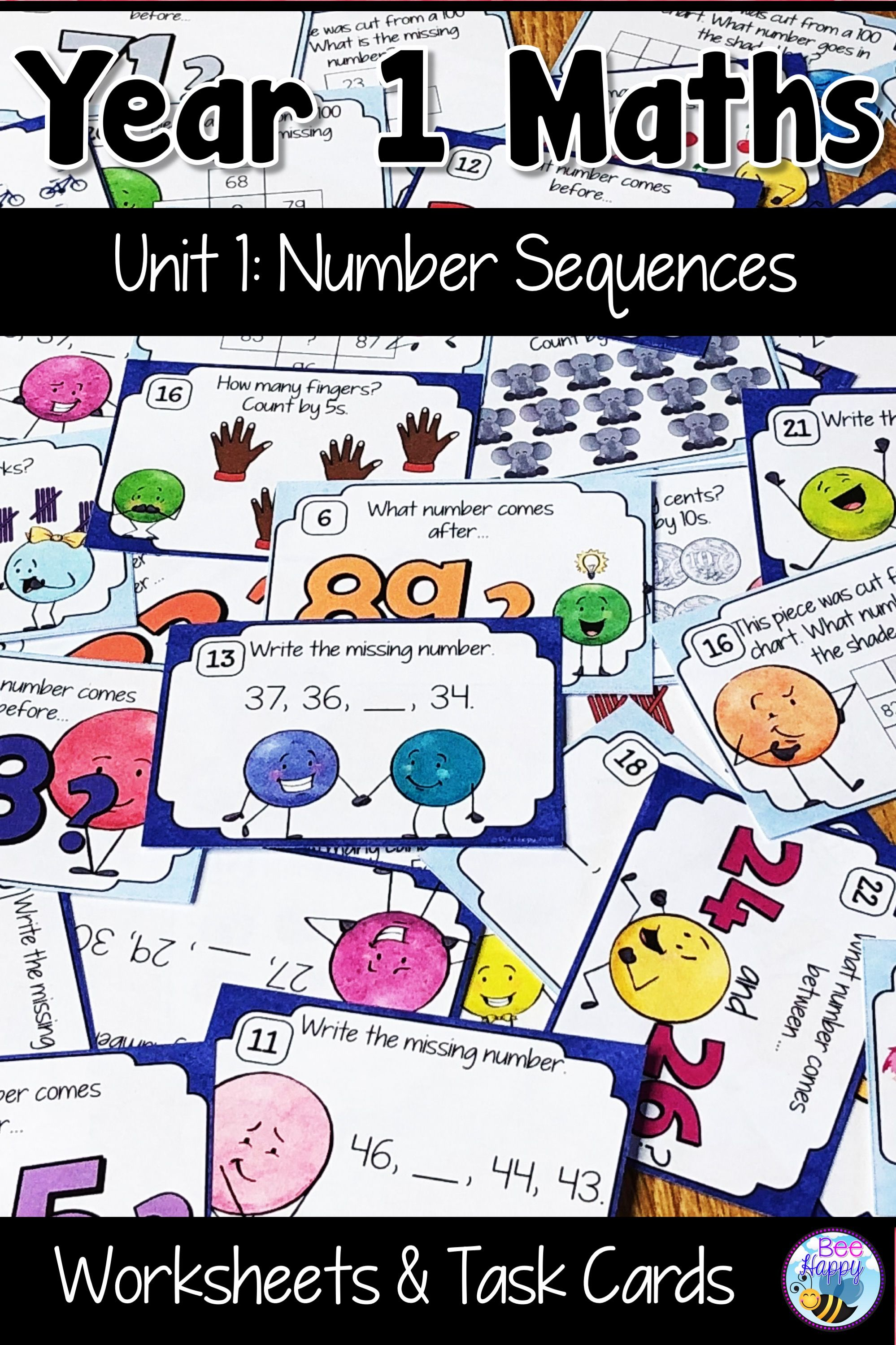 Australian Curriculum Number Sequences Worksheets And Task