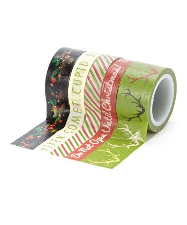 Another great find on #zulily! Sleigh Bells Ring Decorative Tape Set by My Mind's Eye #zulilyfinds
