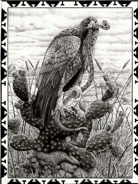 Mexican Revolution Tattoos : mexican, revolution, tattoos, Eagle, Serpent, Mayan, Aztec, Mexican, Tattoos