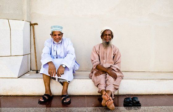 Old Men Relaxing In The Shade Muscat Oman People Of The World People Style
