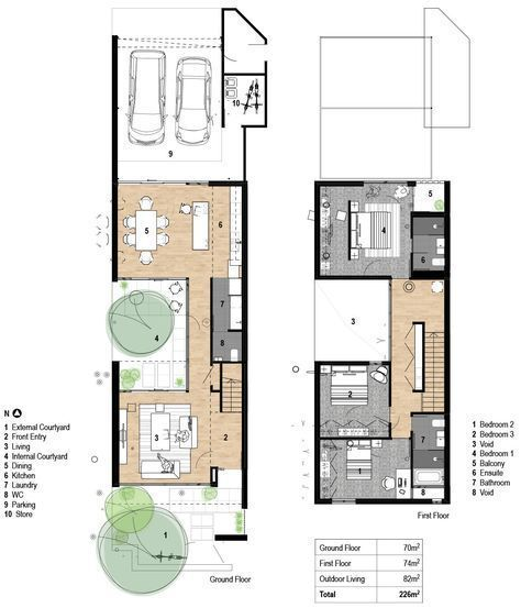 Typical Terrace Home Narrow House Plans Architectural Floor Plans House Plans