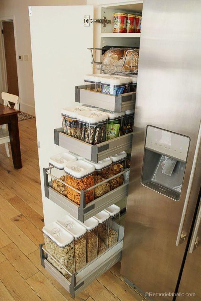 61 Unique Kitchen Storage Ideas Easy Storage Solutions For Your Kitchen 부엌 아이디어 부엌 정리 부엌 디자인
