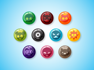 Game Asset Creature Marbles Game Assets Design Puzzle Illustrator Cs