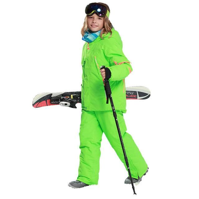 c17fe120a kids clothes winter ski suit windproof 5000ski jackets+pant kids' winter  snow girls clothes boys clothes outdoor -20-30 degree