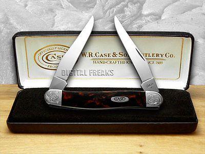 CASE XX Engraved Bolster Series Black Lava Scrolled Muskrat Pocket Knife Knives