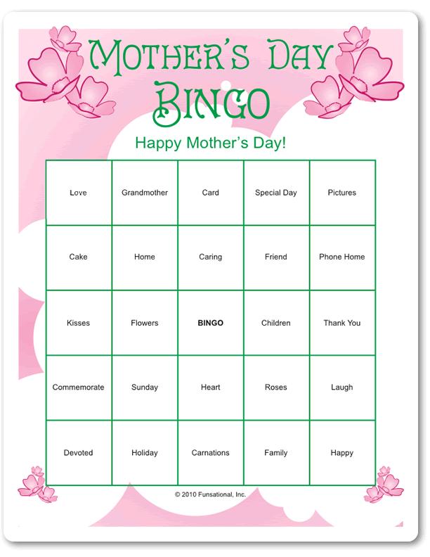 Mother's Day Bingo