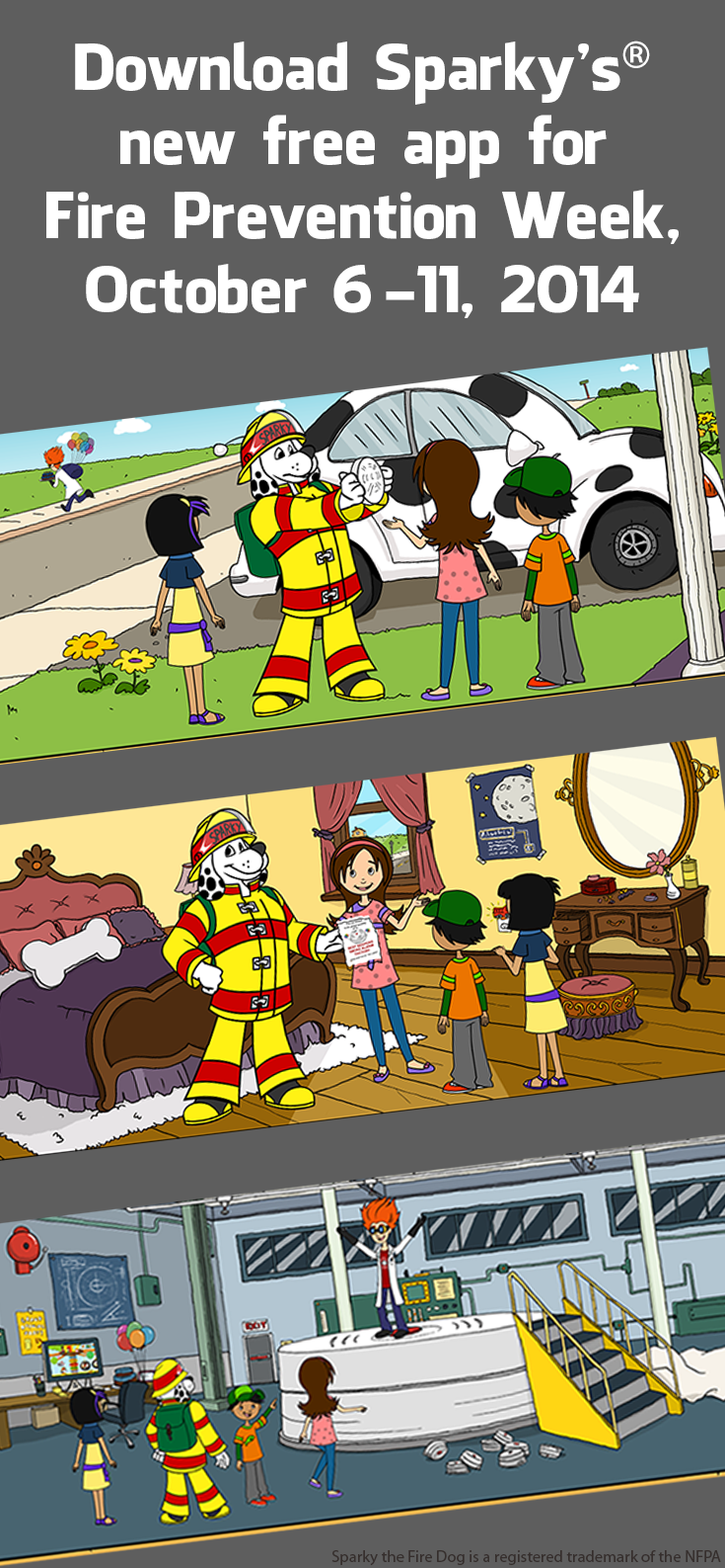 Sparkys New App For Fire Prevention Week Is FREE In The ITunes And Amazon Stores