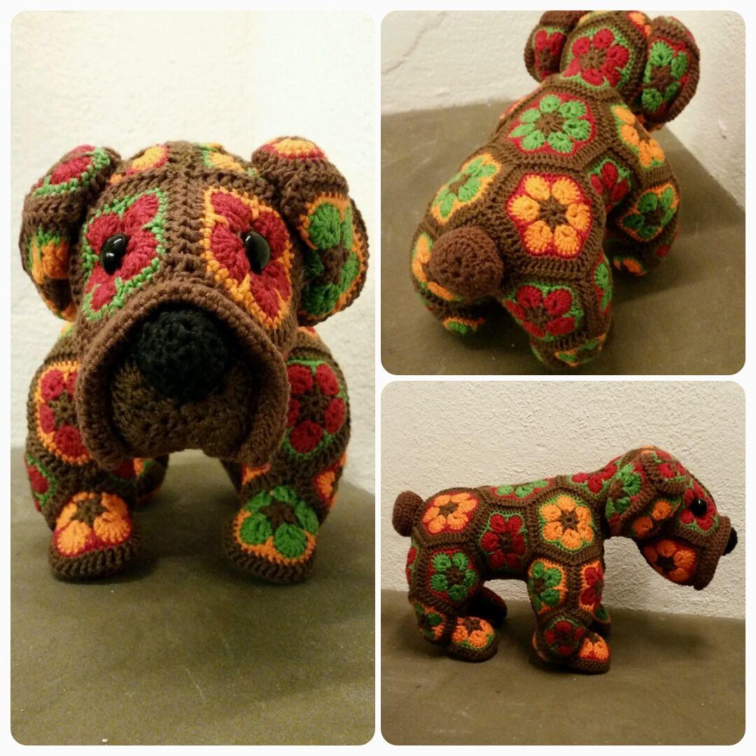 Max the bulldog. A Heidi Bears pattern project. | Crochet ...