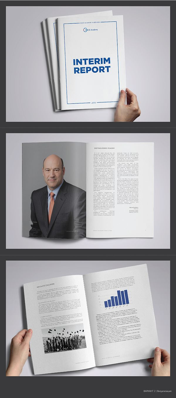 Osce Academy Annual Report  Samples On Behance  Print