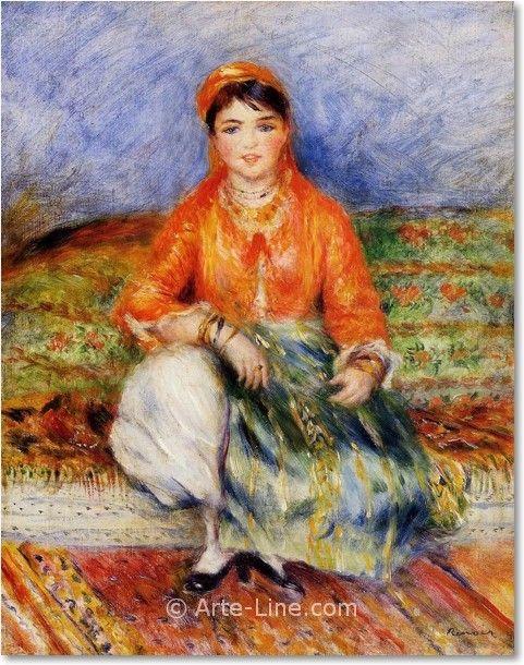 Pierre Auguste Renoir, Algerian Girl, arte line, quadri, dipinti ...