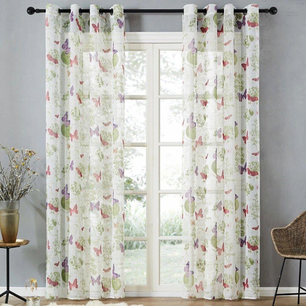 rideau voilage retro kids curtains