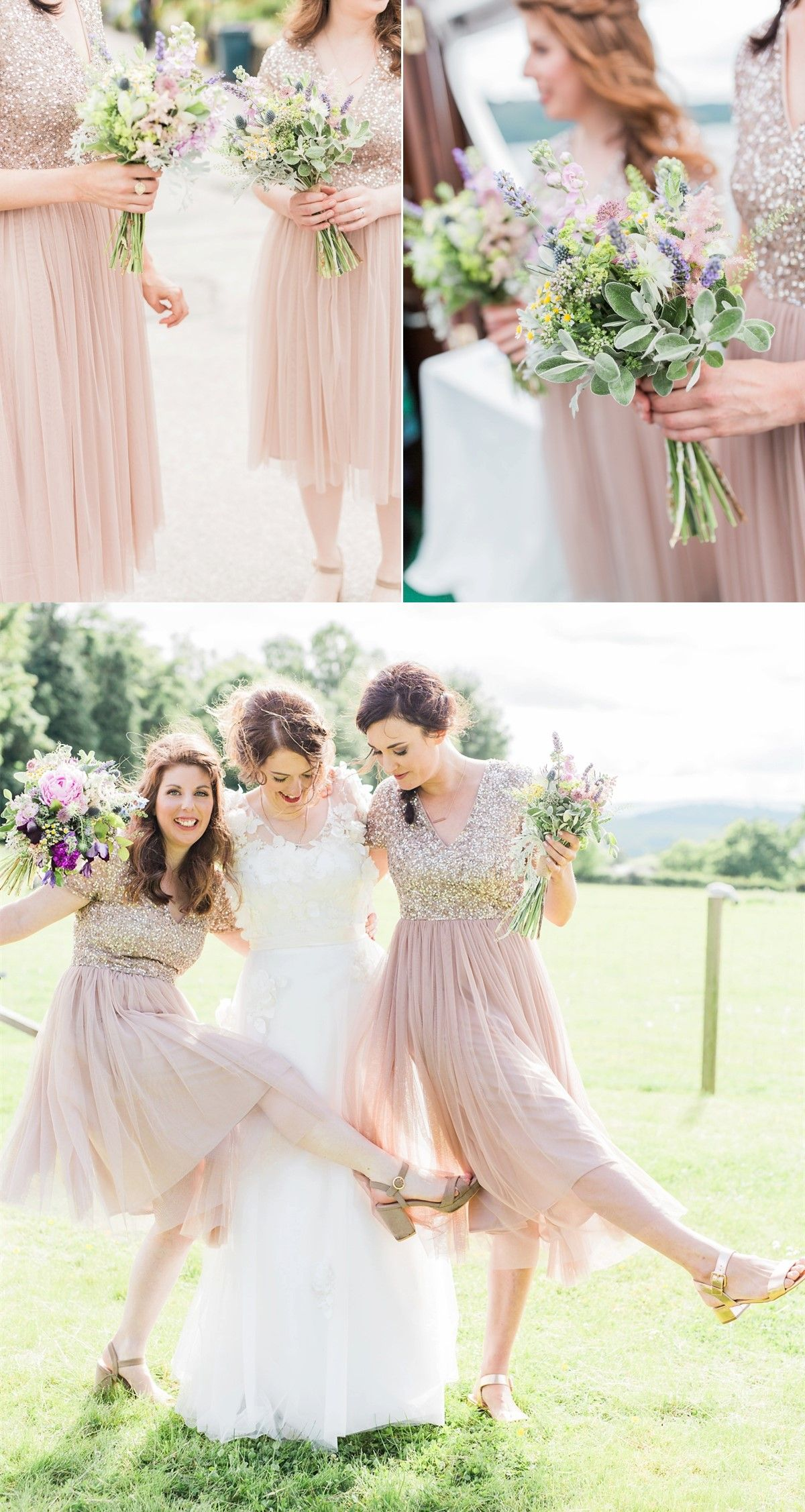 30cbb0ef95f1 Pink Bridesmaid Dress with Short Sleeves, Elegant Bridesmaid Dresses with  Sequin, Short Prom Party Dresses #wedding #prom