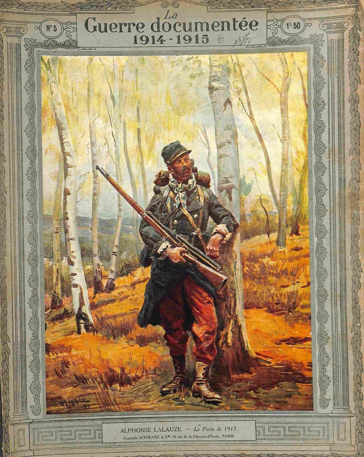 Alphonse Lalauze Poilu Soldat Uniforme Fusil Pantalon Rouge 1915 Wwi French Army Army France