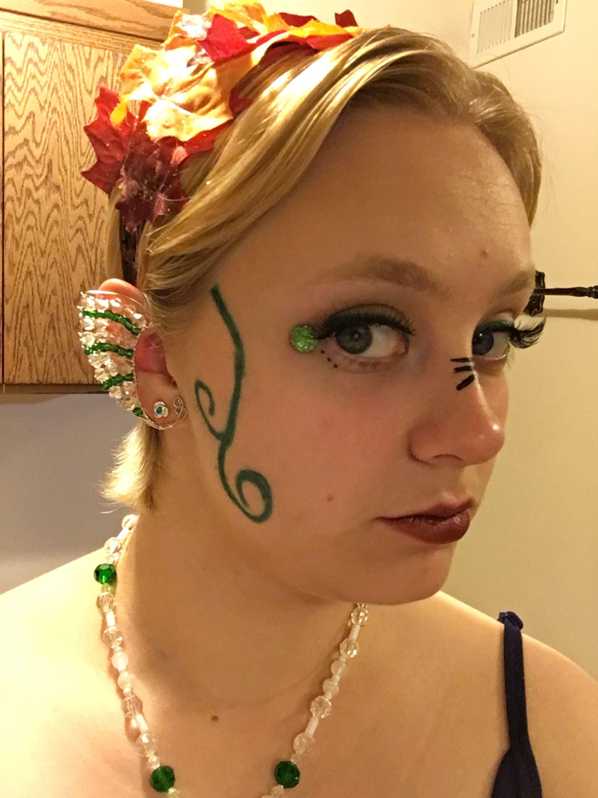 Woodland elf Green makeup Forest elf Green makeup