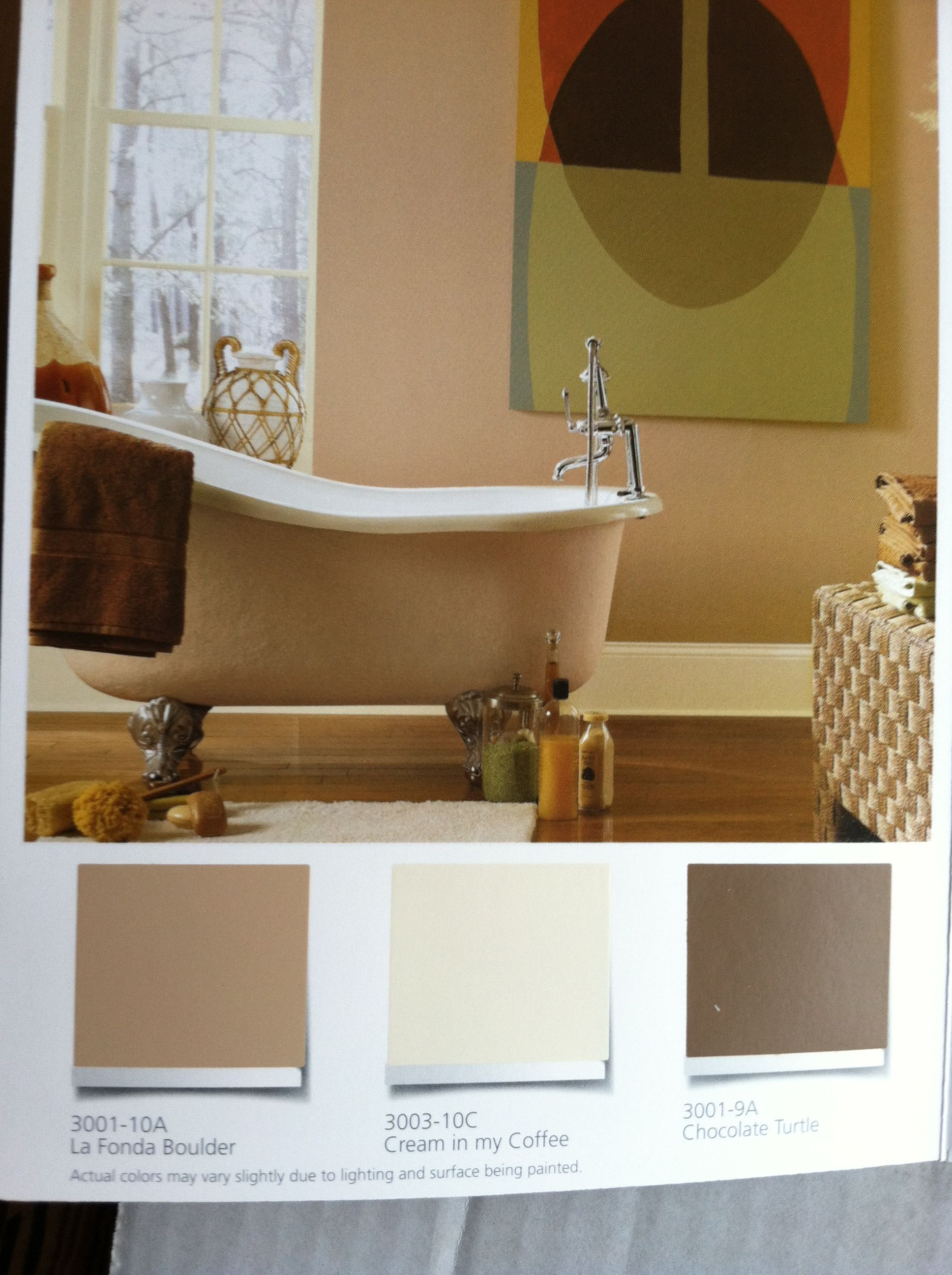 Valspar Paint In La Fonda Boulder Cream In My Coffee And Chocolate Turtle From Lowes Living Room Colors Bathroom Paint Colors Favorite Paint Colors