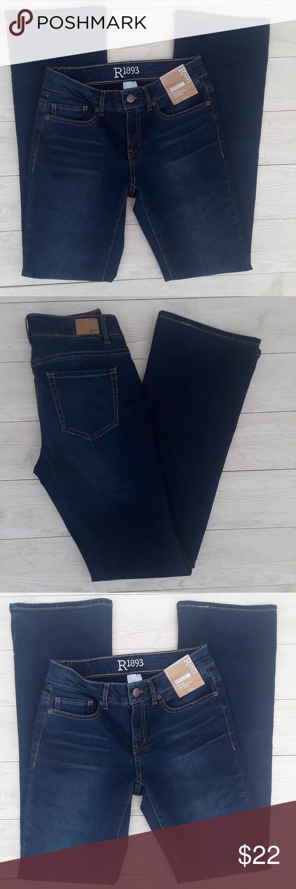 87cd4f66 Women sz 2 R1893 Roebuck & co bootcut jeans nwt R 1893 Roebuck & Co size 2  regular jeans bootcut, low rise, slim through knee NWT-$39 8