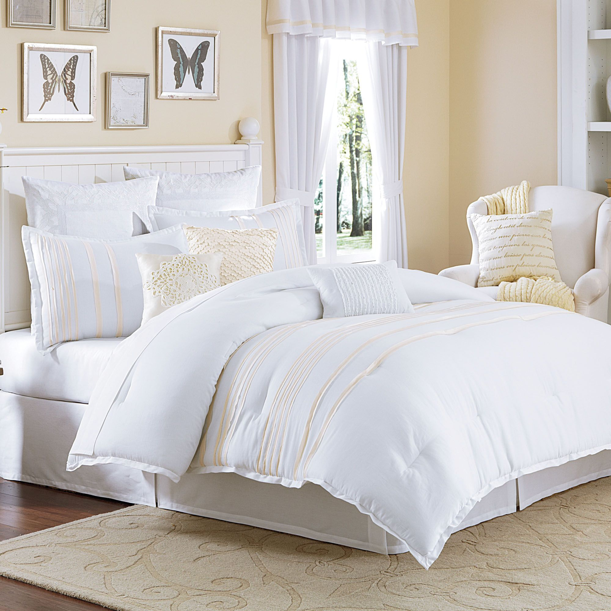 set sets white of beautiful home decoration forter comforters comforter lovely bed bedding curtains idea with decor