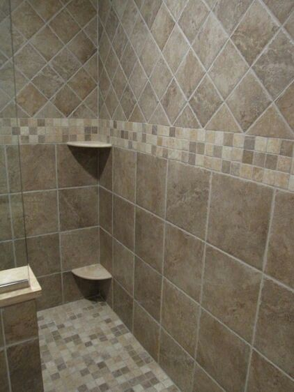 Bathroom tile. For my bathroom remodel? Would like the bottom tile to continue to the top