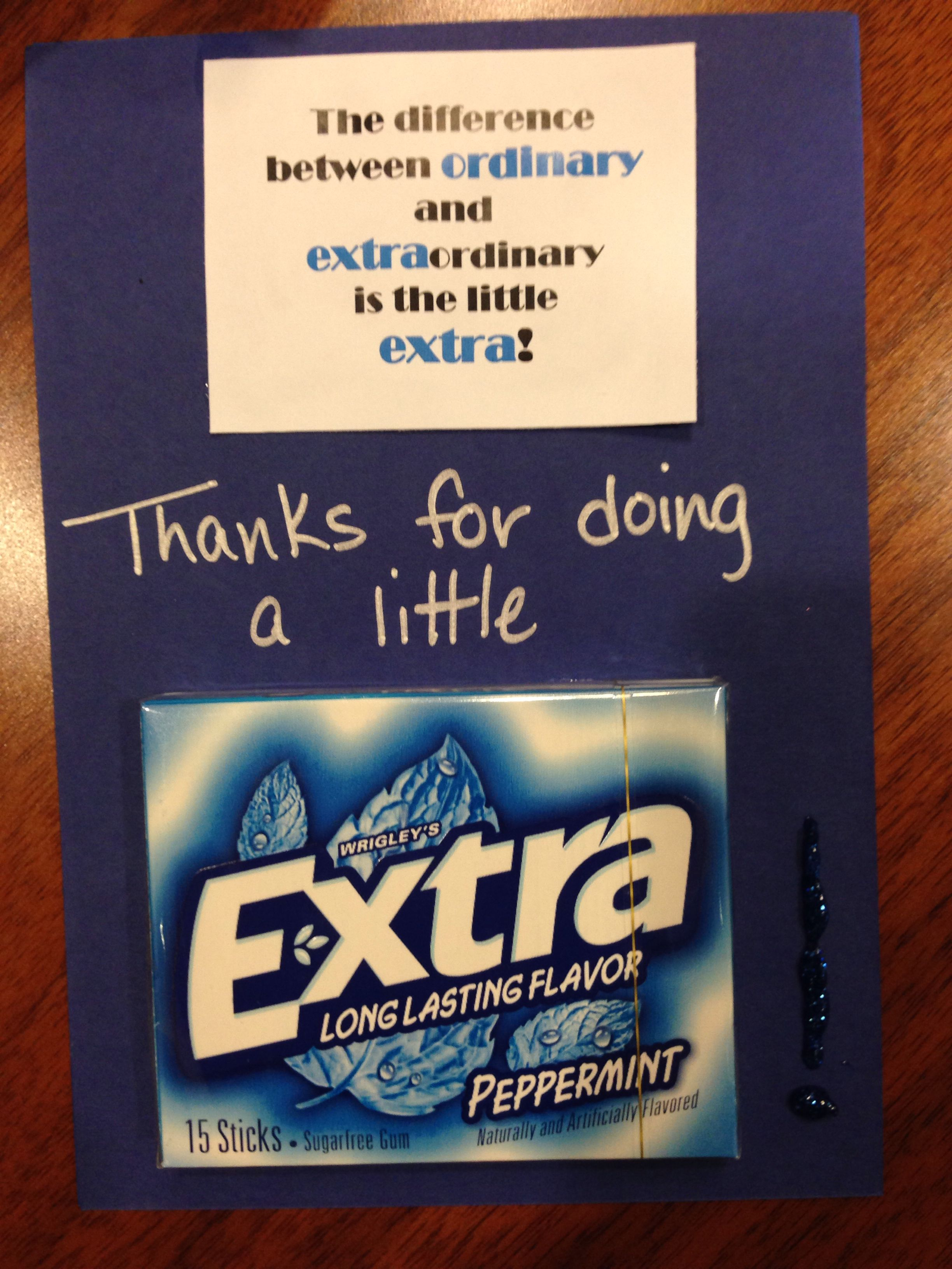 Neat Idea For A Thank You Card Gift Staff Ideas Pinterest