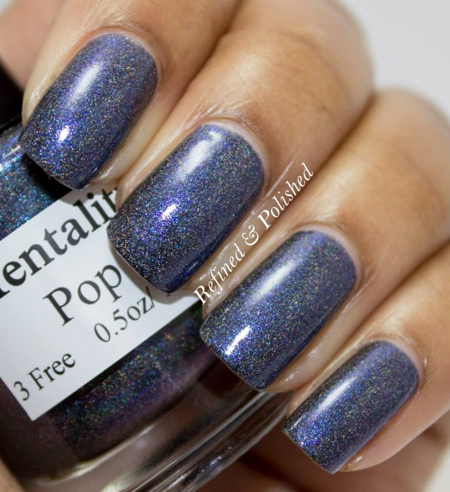 Mentality Nail Polish The Blue Mattes Swatches and Review