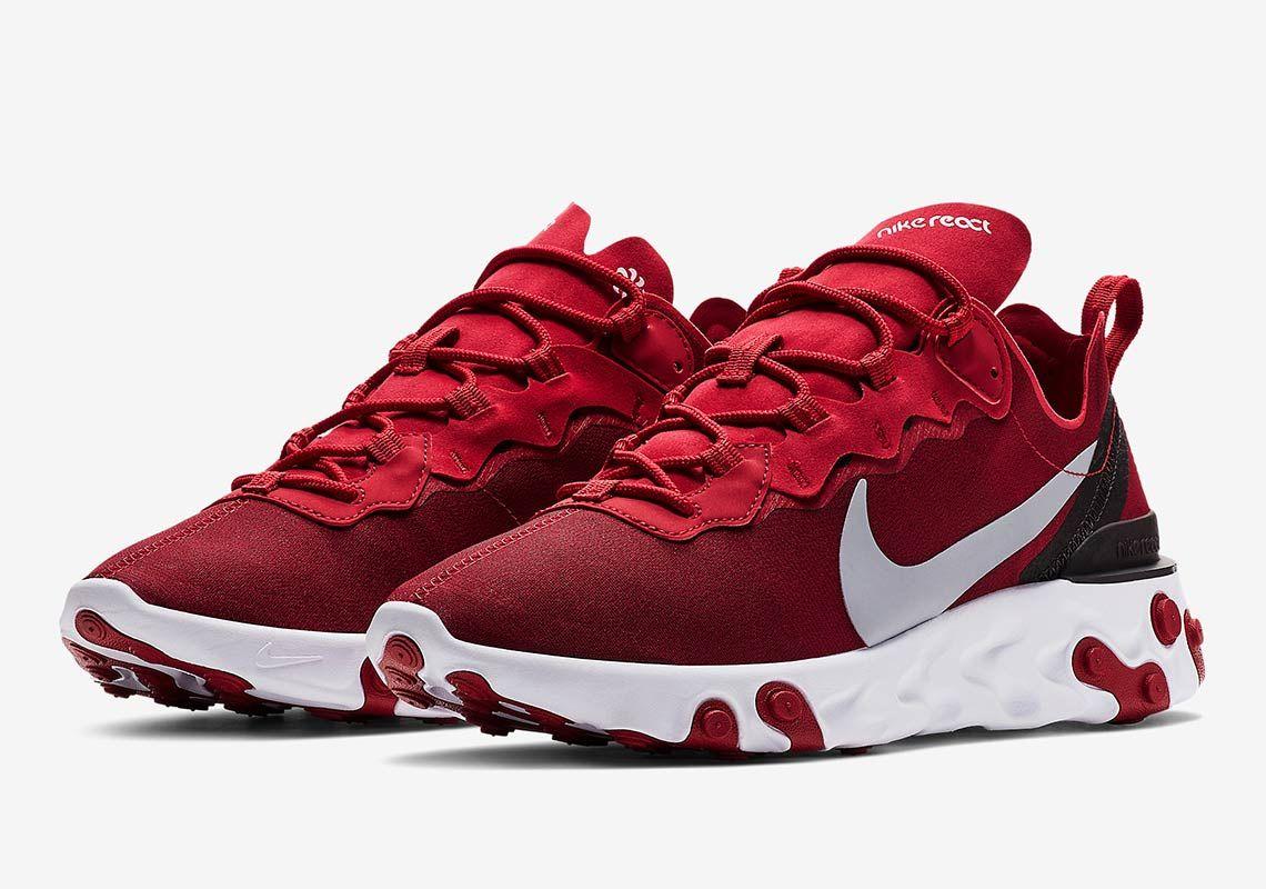 Nike react element 55 sneakers in red, Rojas Zapatillas