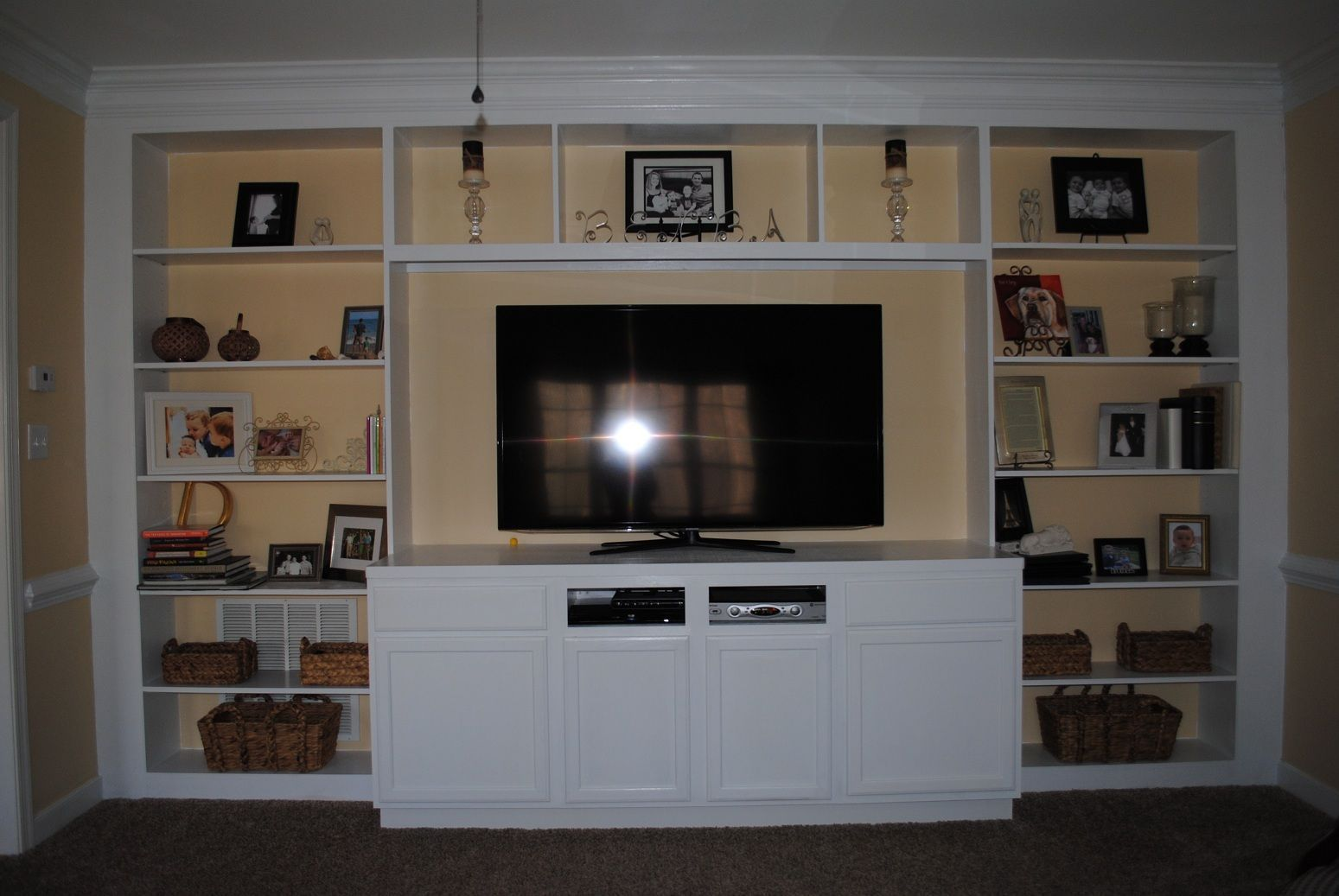 Diy entertainment center ideas plans built in refurbish cheap
