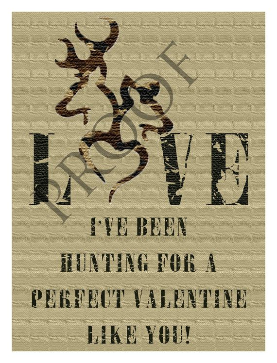 Hunting Browning Heart ValentineS Day Wedding Engagement