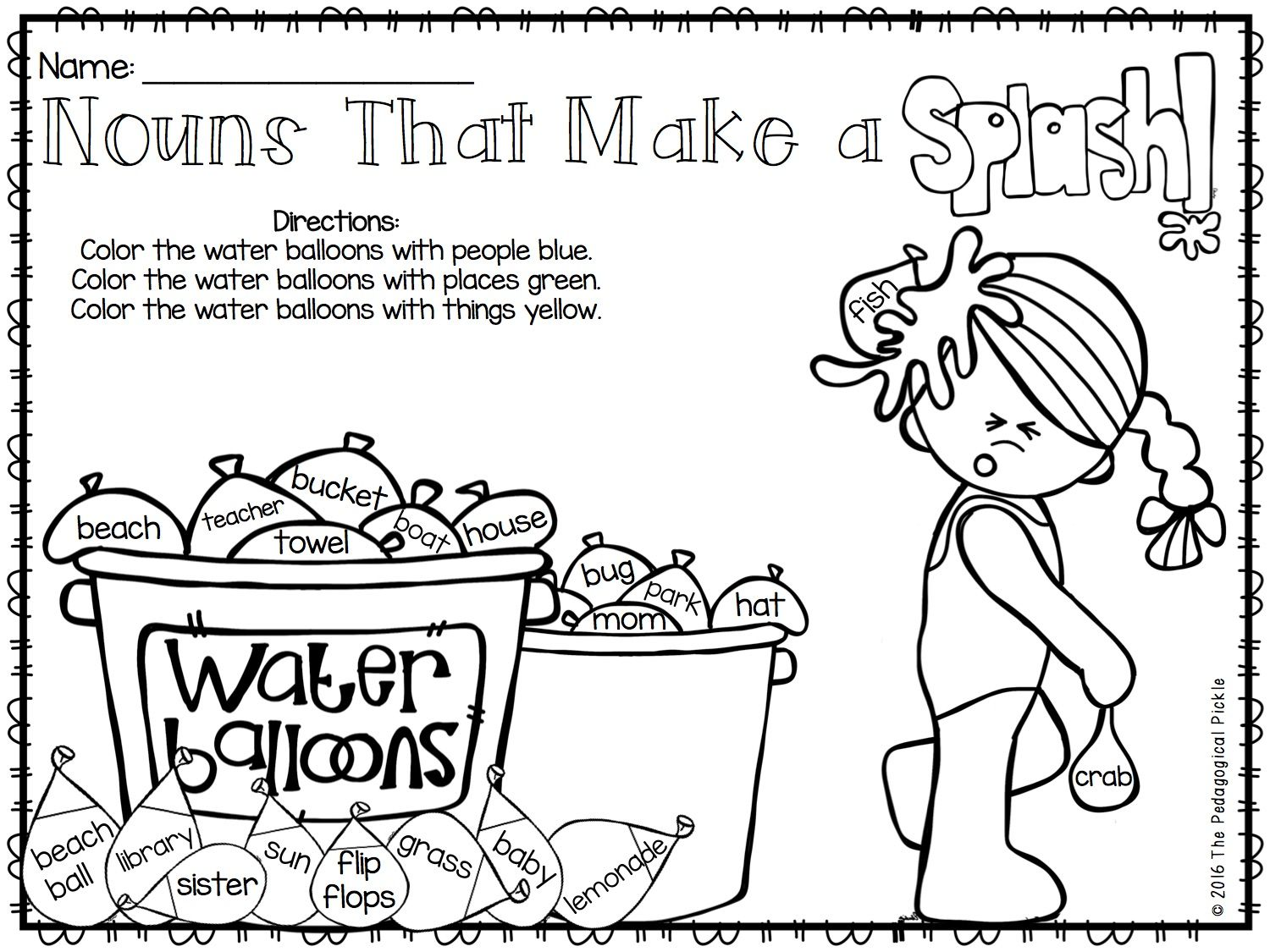Summer Themed First Amp Second Grade Literacy Packet