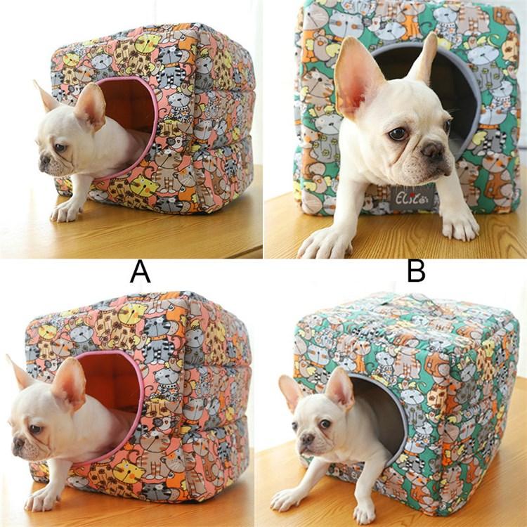 ペットベッド ペットハウス ペット用寝床 立方体 キューブハウス 四季用 犬猫用 ペットベッド ペット 犬