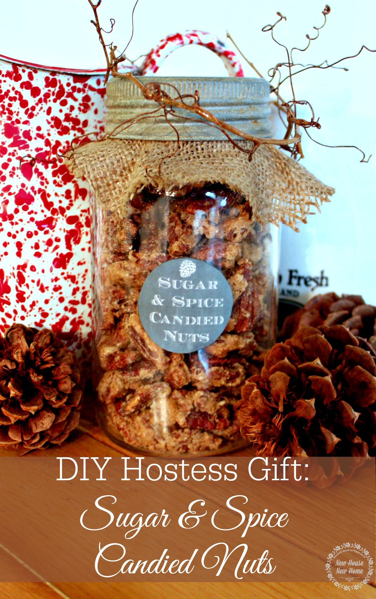 DIY Holiday Hostess Gifts - Sugar and Spiced Nuts   Gifts in a Jar ...