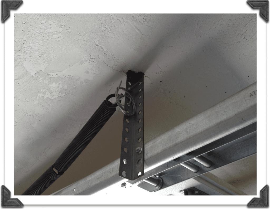 Garage Door Track Bracket Inspection Garage Doors Garage Door Maintenance Garage Repair
