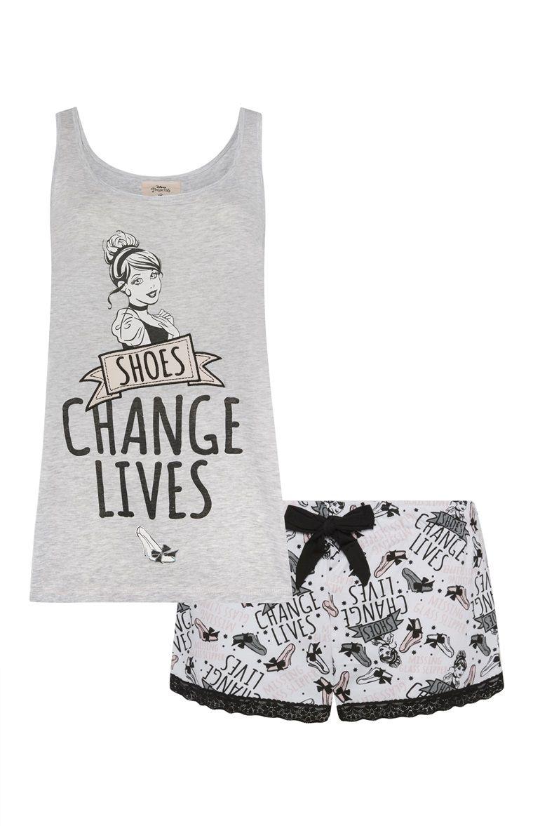 Primark  Grijze pyjamaset Disney Princess  Schoentjes