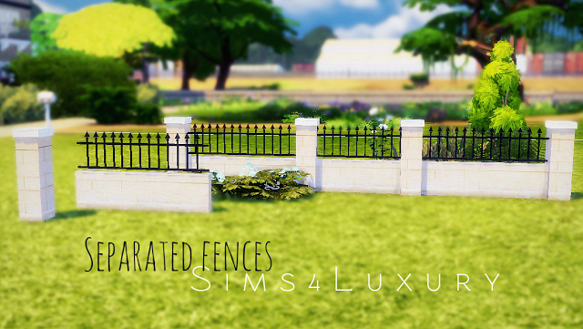 sims 4 cc 39 s the best separated fences by sims4luxury sims 4 cc 39 s the best pinterest. Black Bedroom Furniture Sets. Home Design Ideas