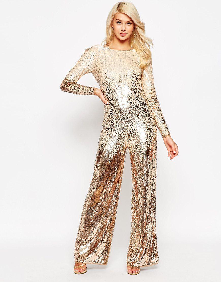 03af6a81f0c Silver Glitter Jumpsuit Sequin Jumpsuit