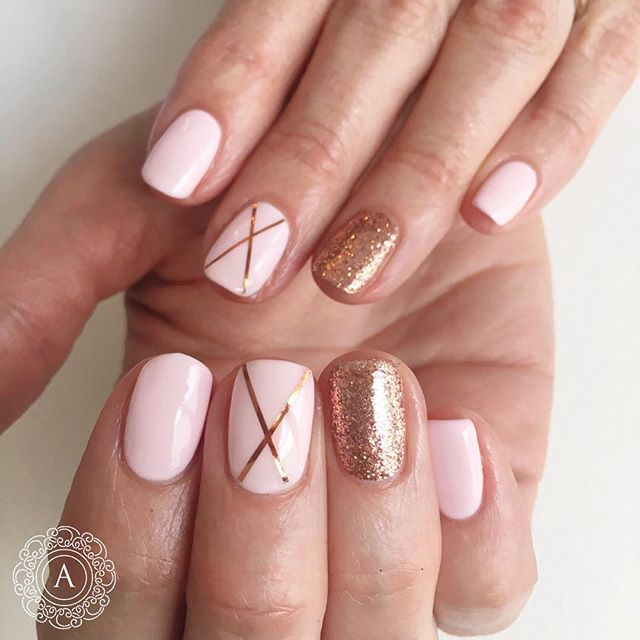 Pin for Later: Rose-Gold Nail Art Is the Prettiest, Girliest Manicure You  Can Wear - Rose-Gold Nail Art Is The Prettiest, Girliest Manicure You Can Wear