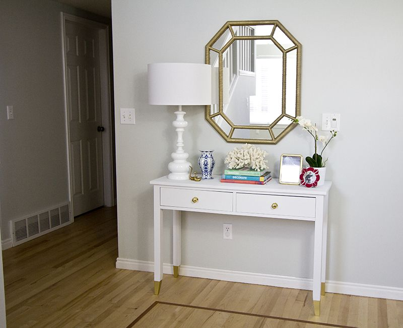 Thrift store 15 console table makeover You wont believe the