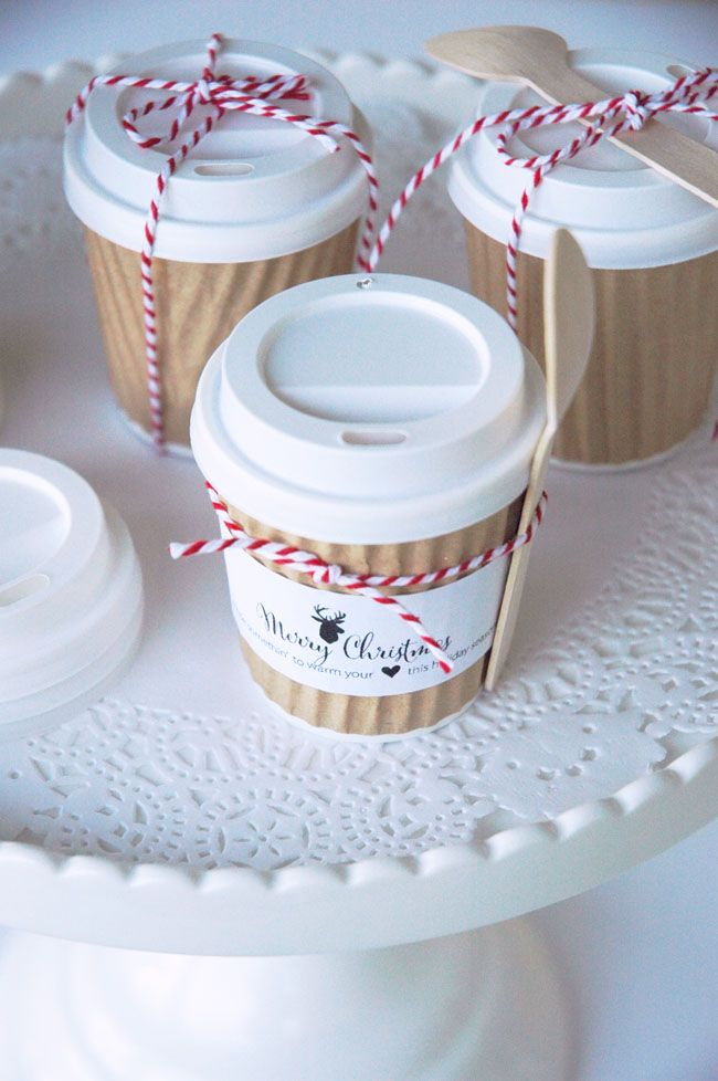 Mini Hot Cocoa Cups Holiday Gift Idea Hot Cocoa Gift Ideas Cocoa Gift Idea Holiday Party Favors