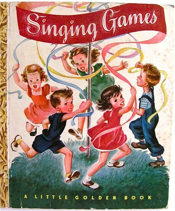 Little Golden Book Singing Games Vintage 1947