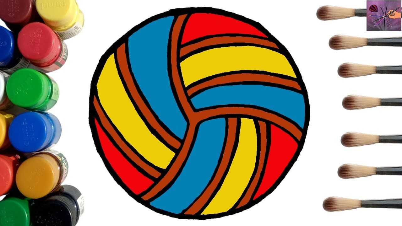 Volleyball Coloring Pages How To Draw A Colorful Volleyball Step By Step In 2020 Bird Coloring Pages Drawings Animal Coloring Pages