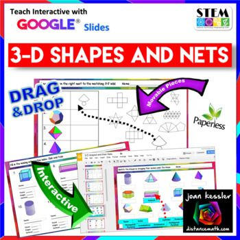 Geometry 3D Shapes and their Nets with GOOGLE Slides