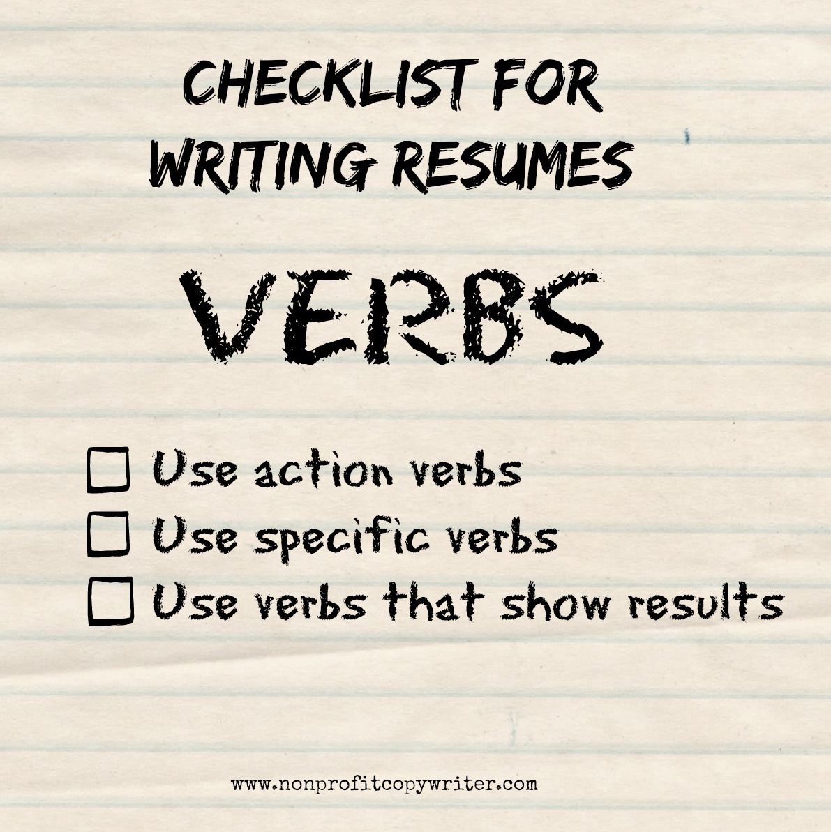 a resume writing guide to using verbs  how