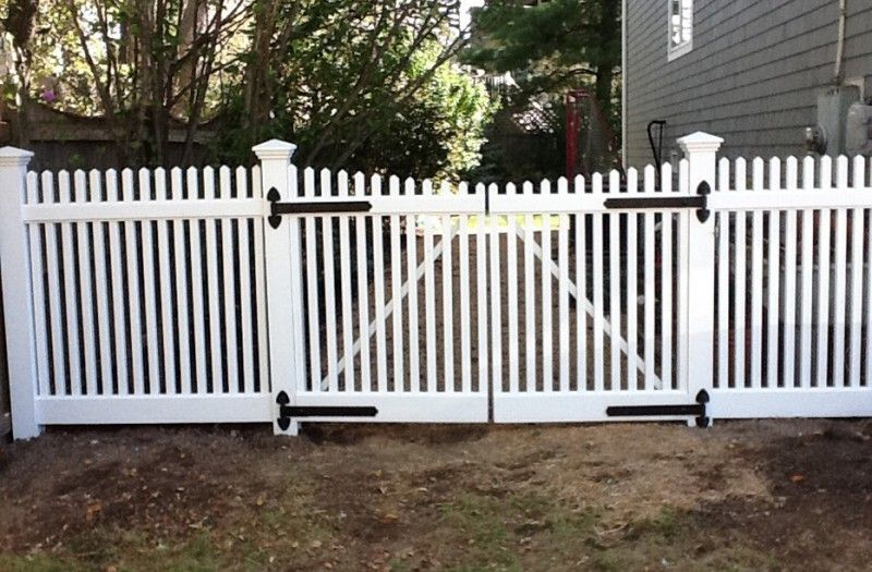 6 Foot Wide Double Picket Fence Gate Installed By A Anastasio Fence Company Picket Fence Gate Fence Gate Front Yard Fence